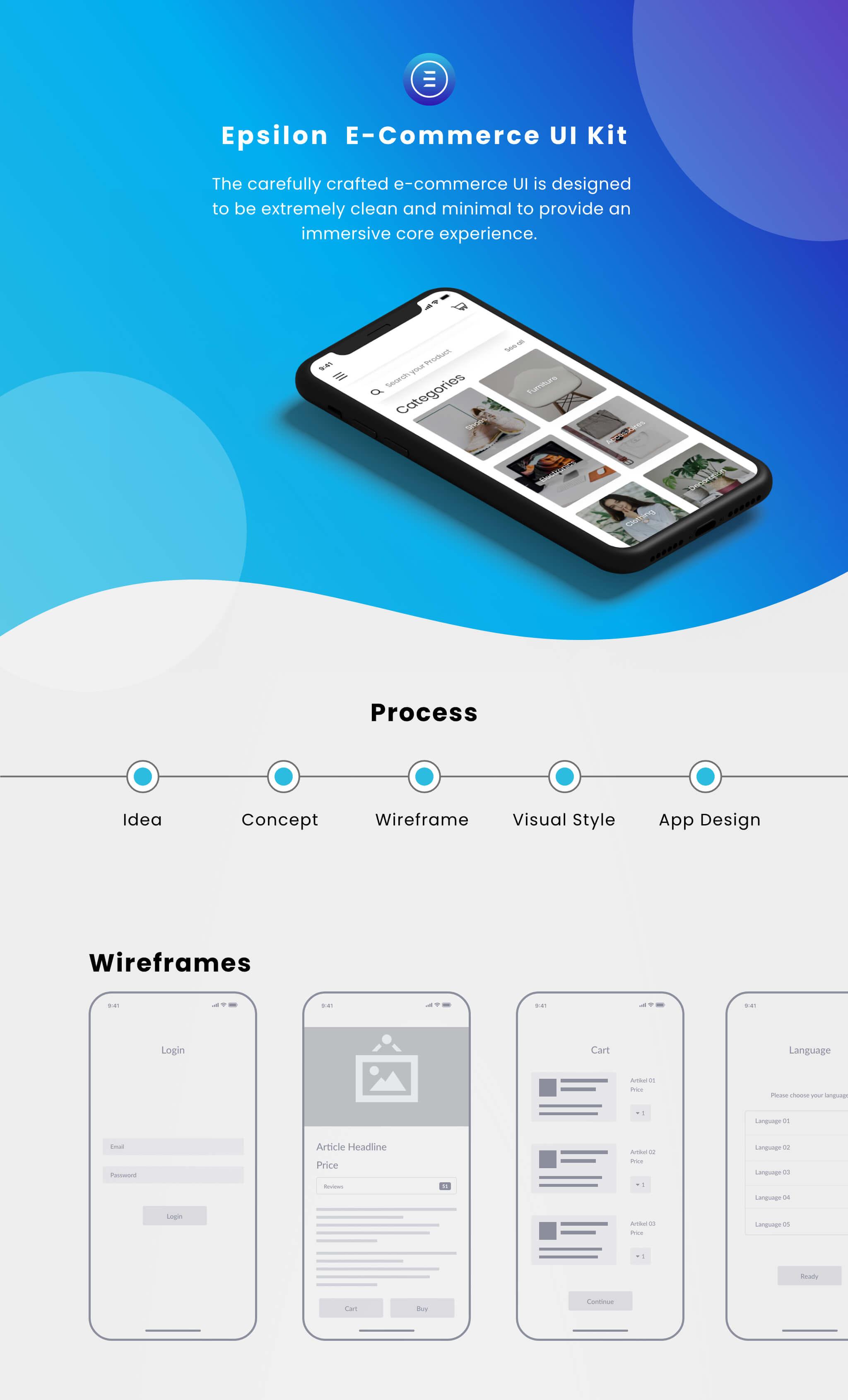 Epsilon UI-Kit App Design