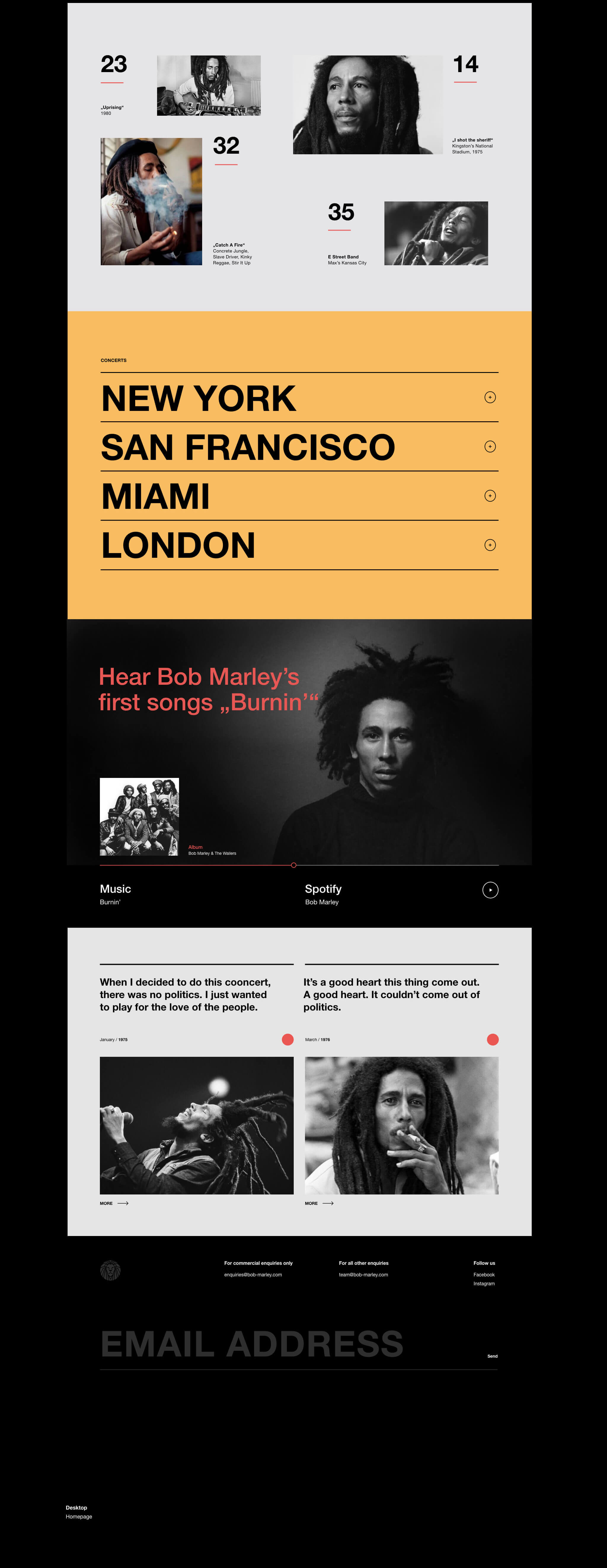 Bob Marley Quotes Webdesign