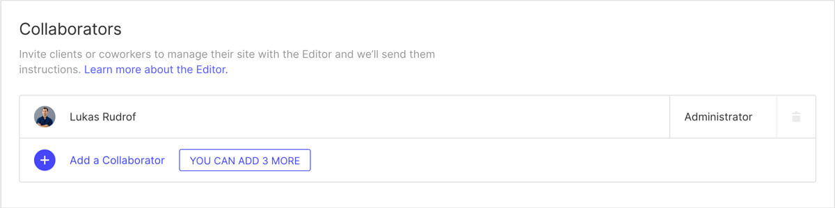 Webflow Collaborators Beispiel