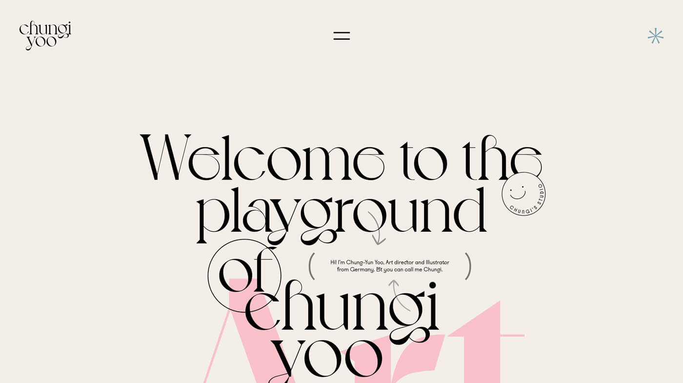 Website Screenshot Chungi Yoo