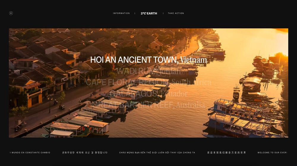 Website Screenshot 2° Earth