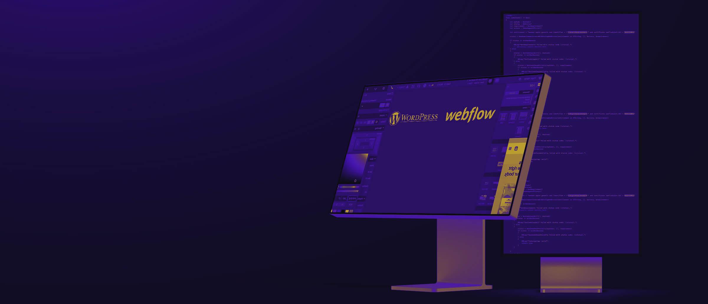 Sideview of Desktop Screen