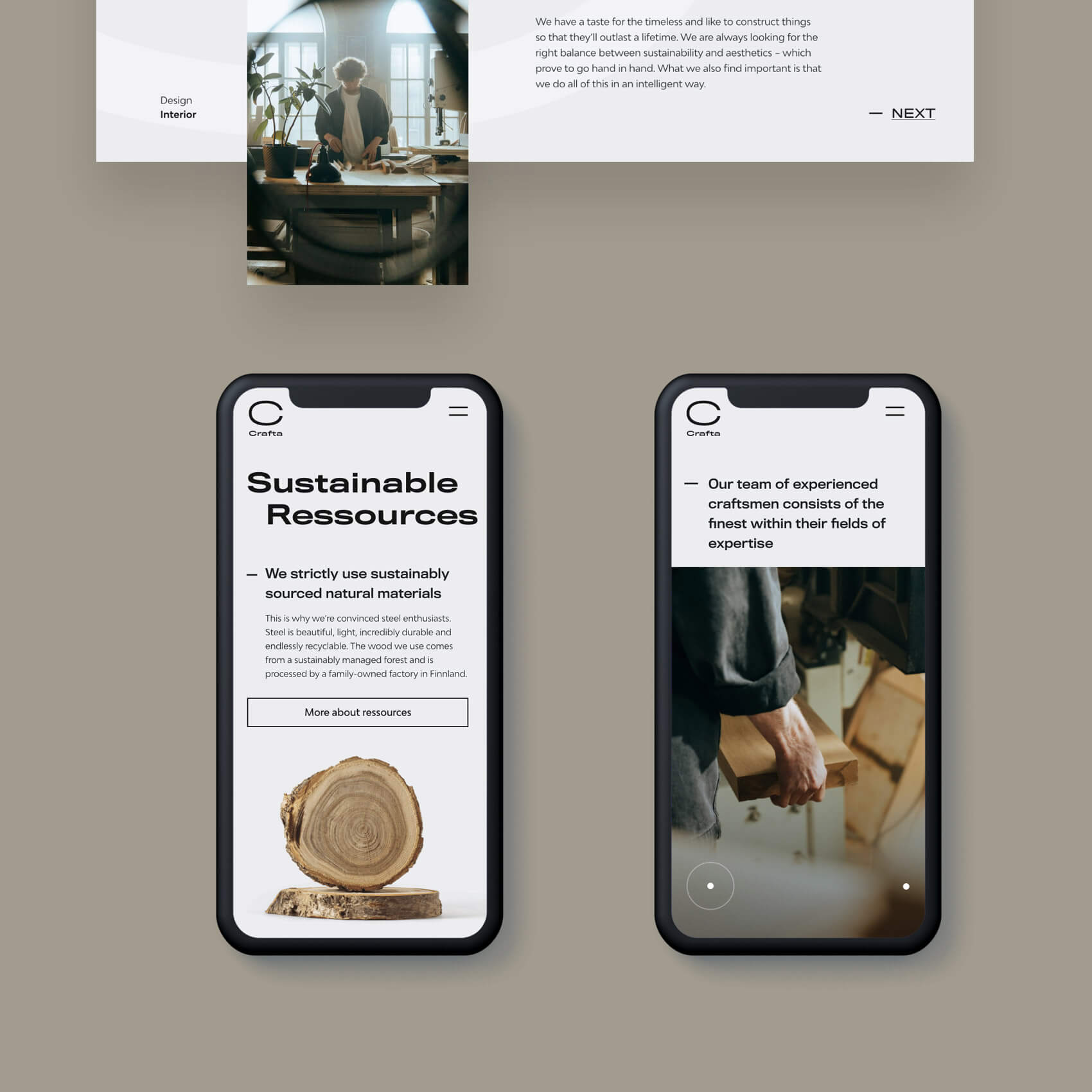 Smartphone Design Screens