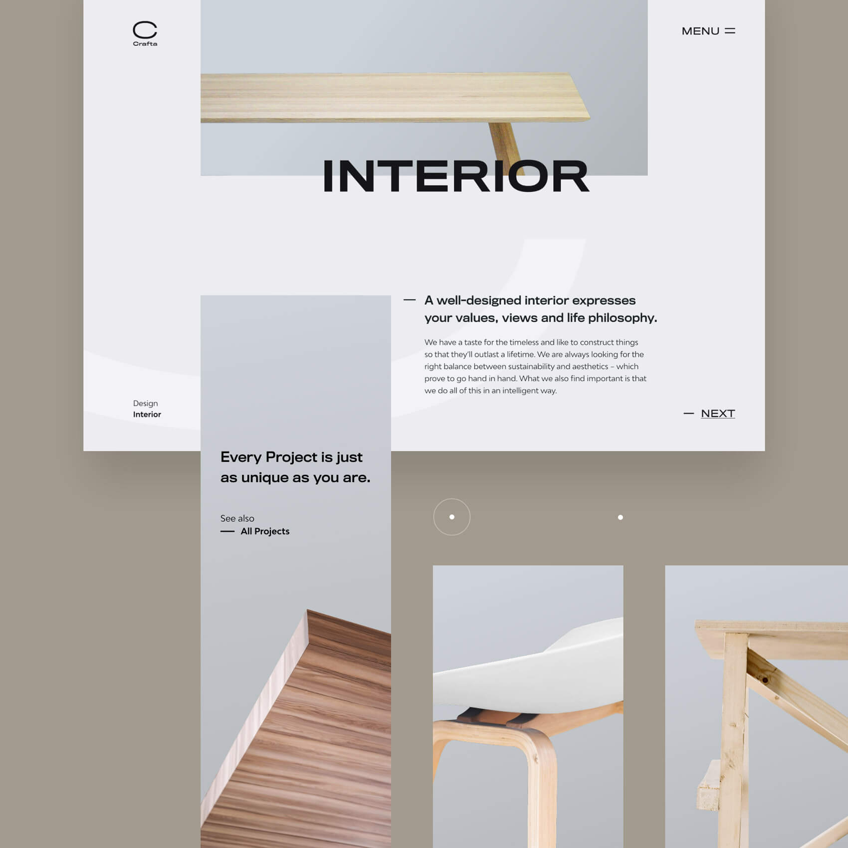 Webdesign for interior