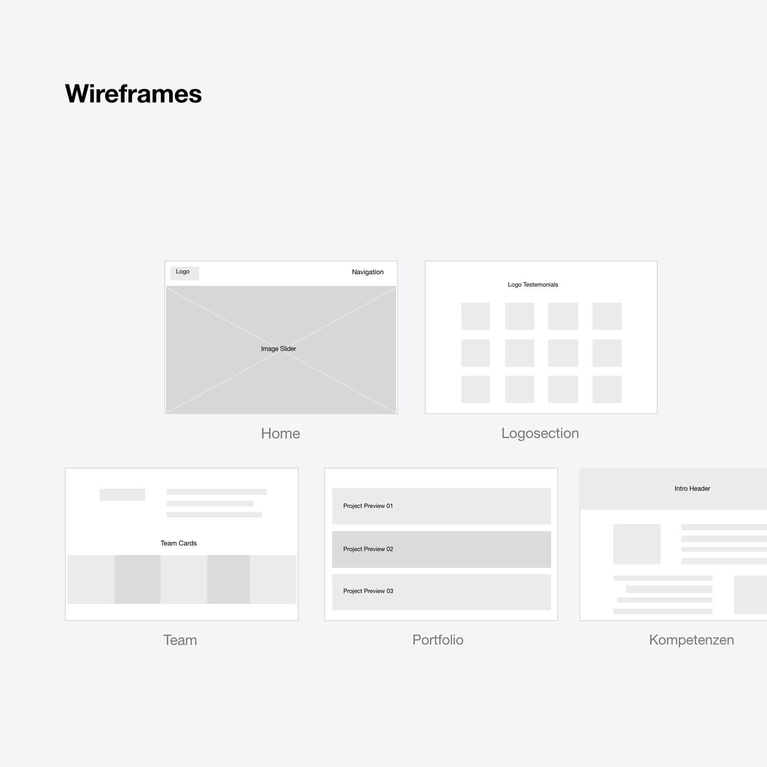 Wireframe preview