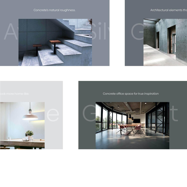 Multiple screens of interior