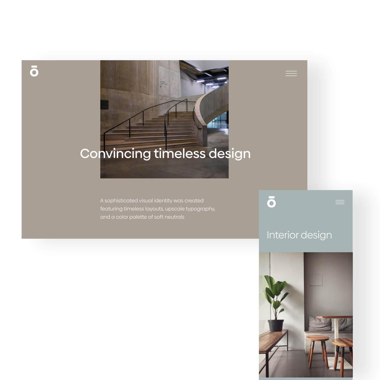 Landingpage and mobile design