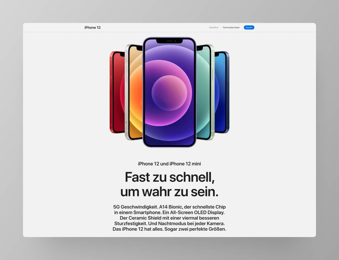 iPhone 12 Website Screenshot