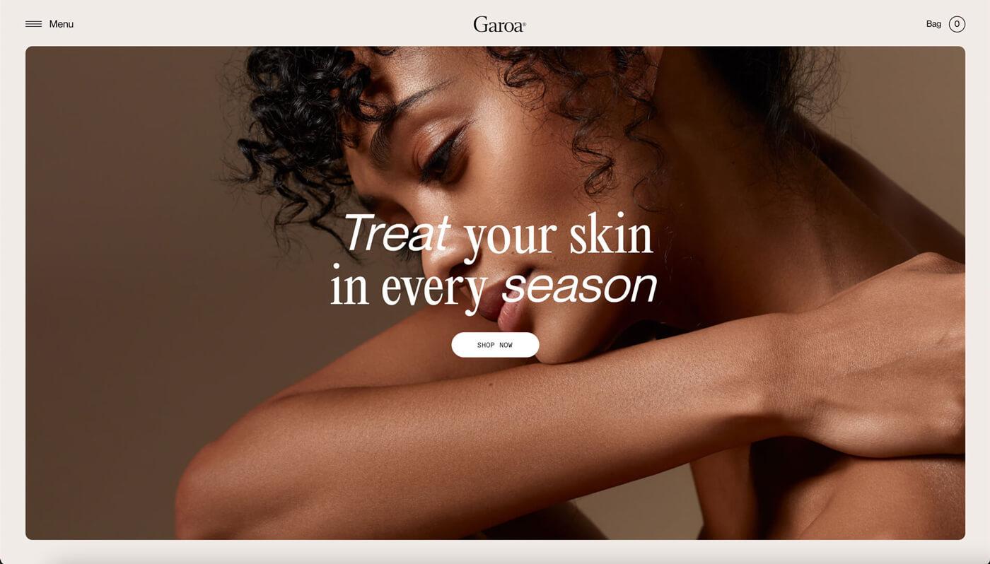 Website Screenshot of garoaskincare.com