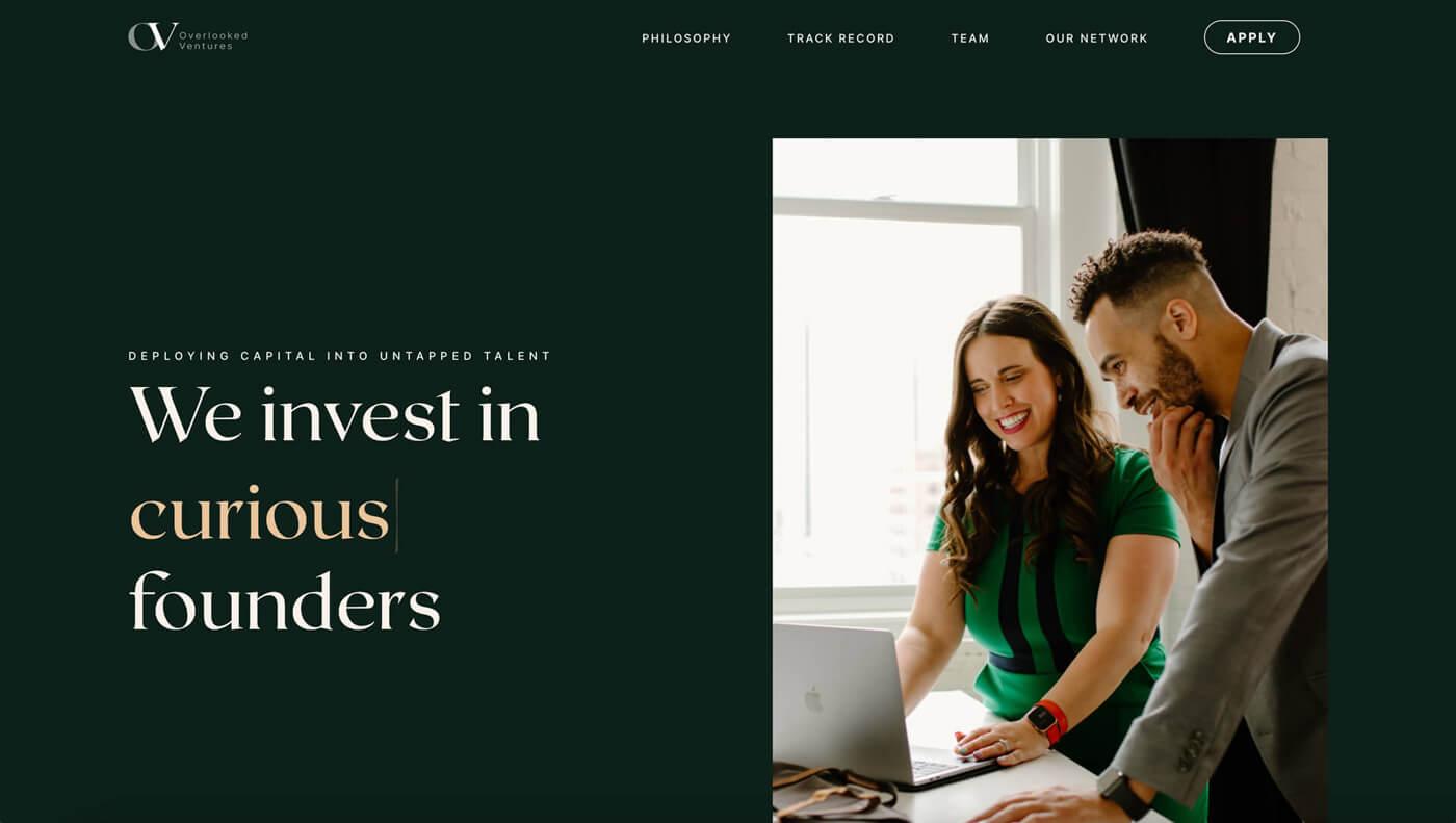 Website Screenshot of overlookedventures.com