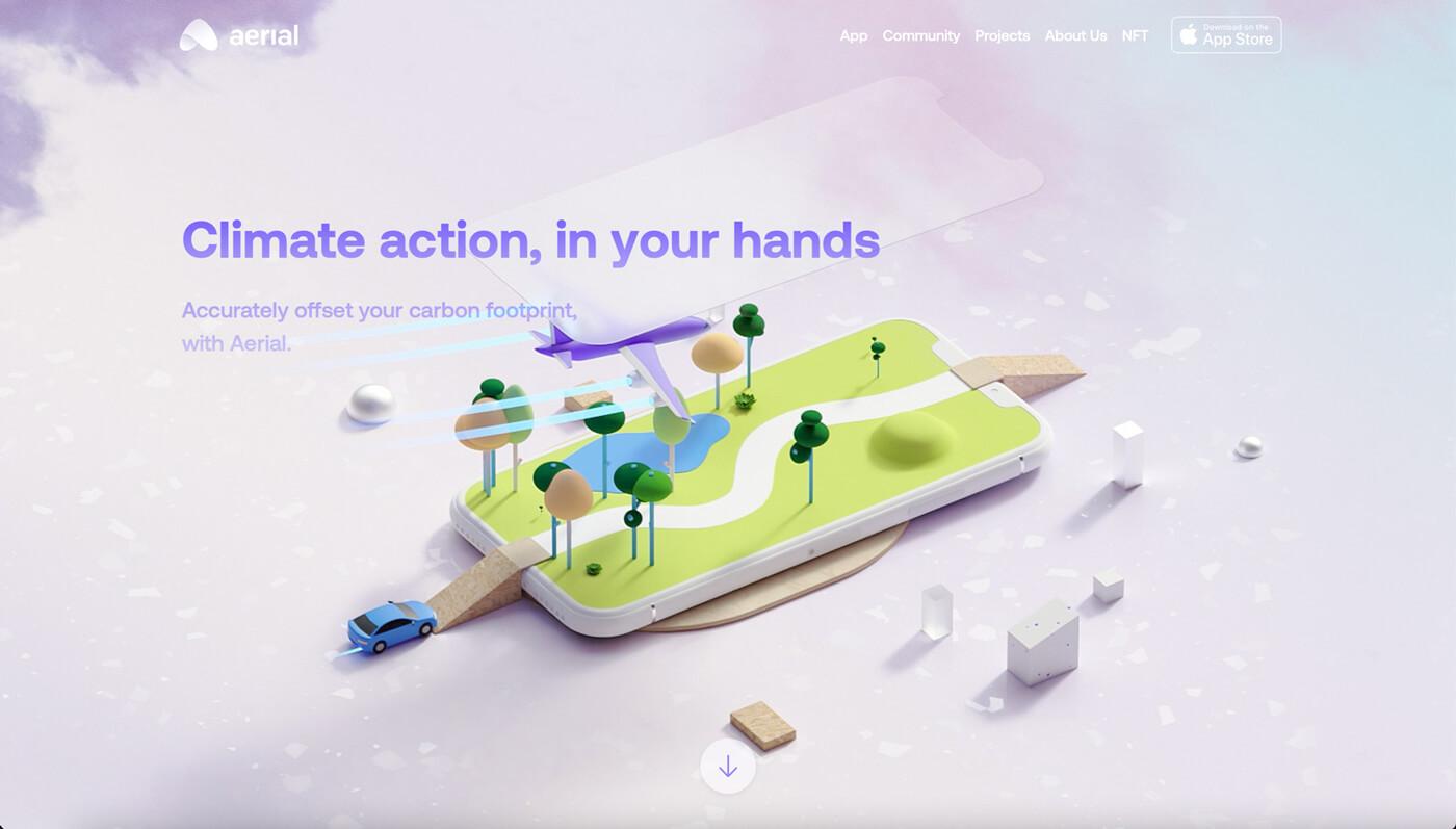 Website Screenshot of aerial.is
