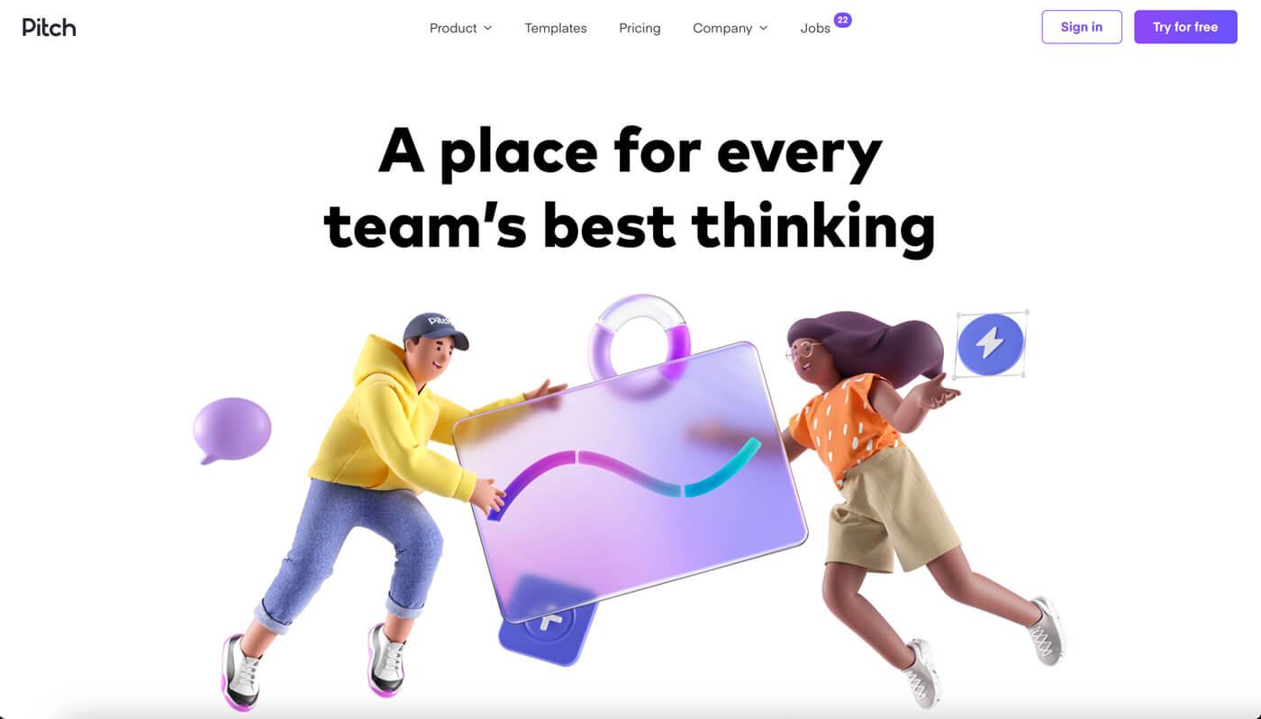 Website Screenshot of pitch.com