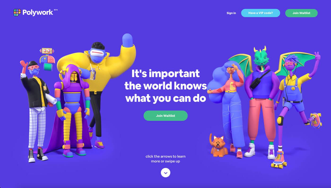 Website Screenshot of polywork.com