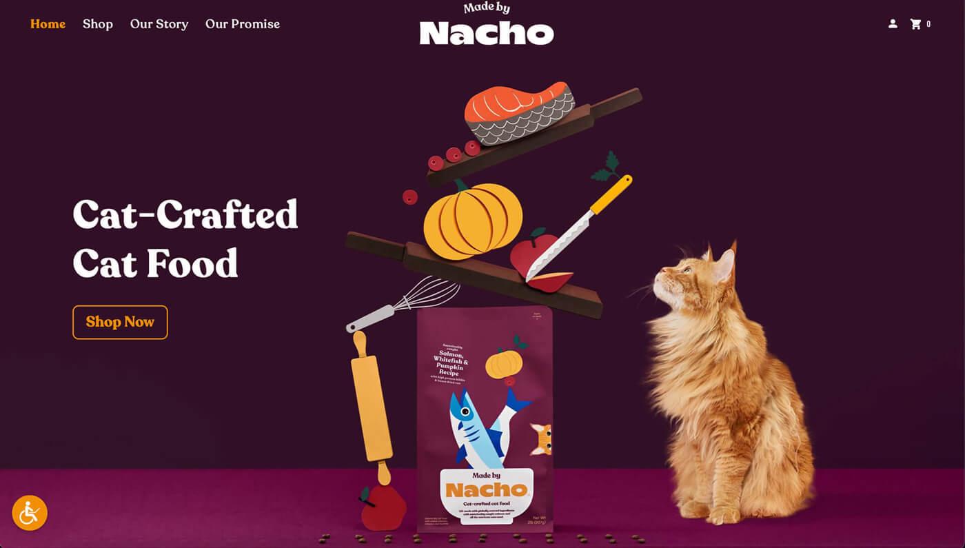 Website Screenshot of madebynacho.com