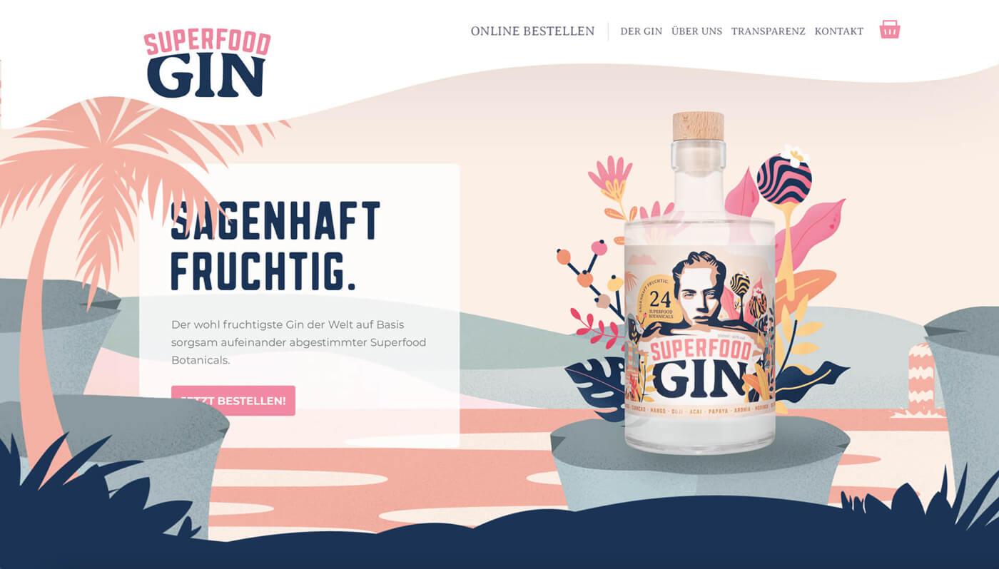 Website Screenshot of superfoodgin.de