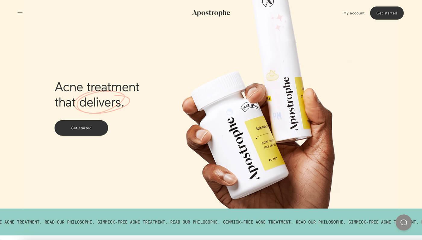 Website Screenshot of apostrophe.com