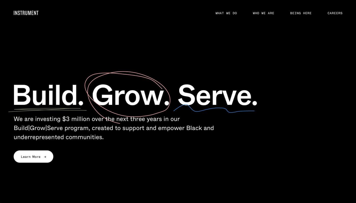 Website Screenshot of instrument.com