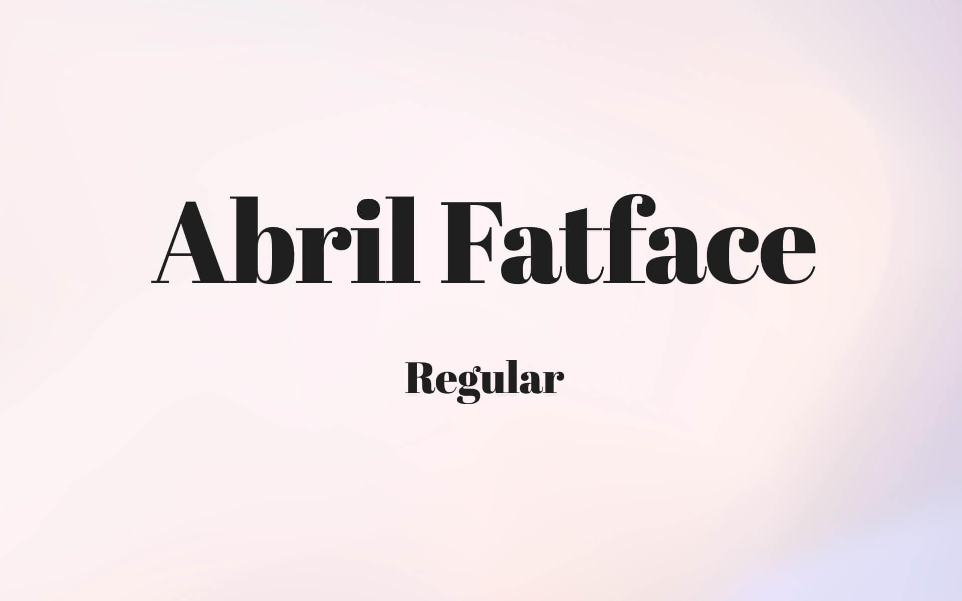 Font Preview Abril Fatface