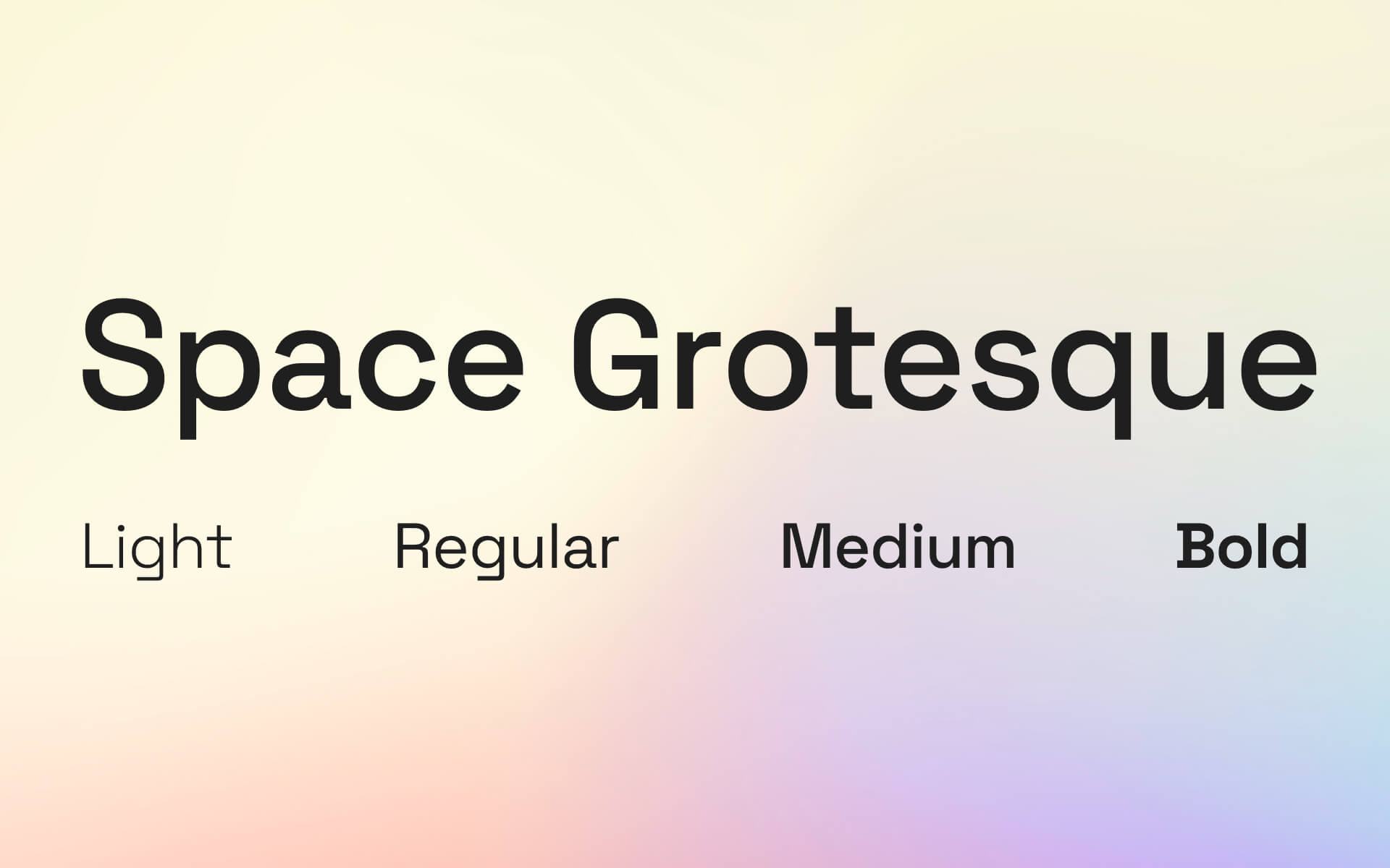 Font Preview Space Grotesque