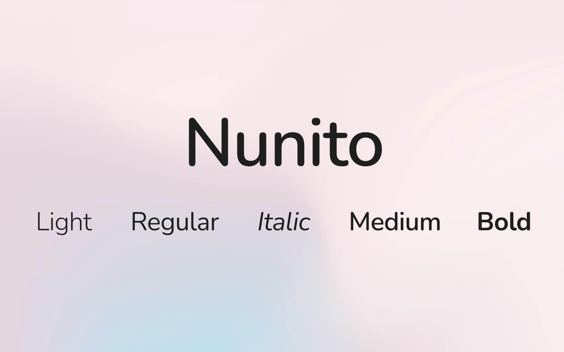 Font Preview Nunito