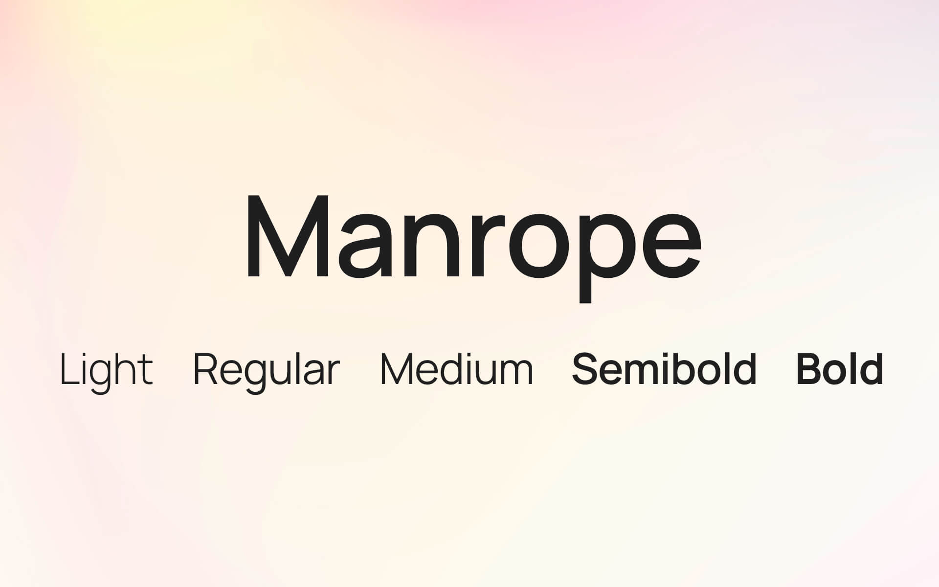 Font Preview Manrope