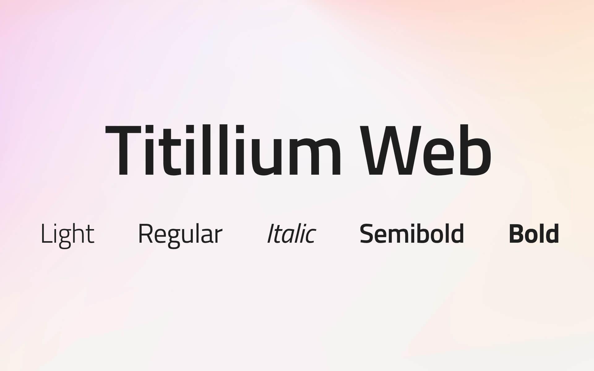 Font Preview Titillum Web