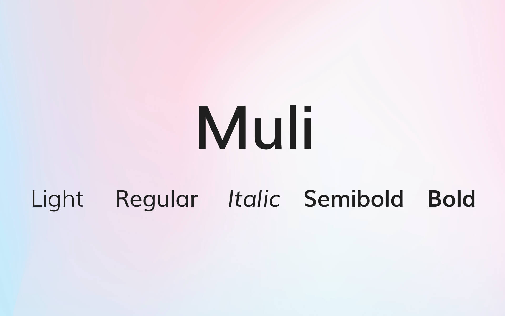 Font Preview Muli