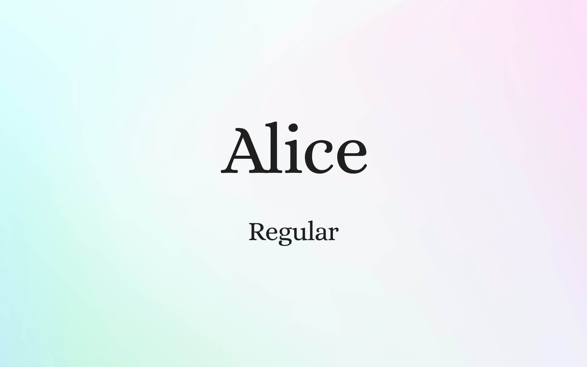 Font Preview Alice
