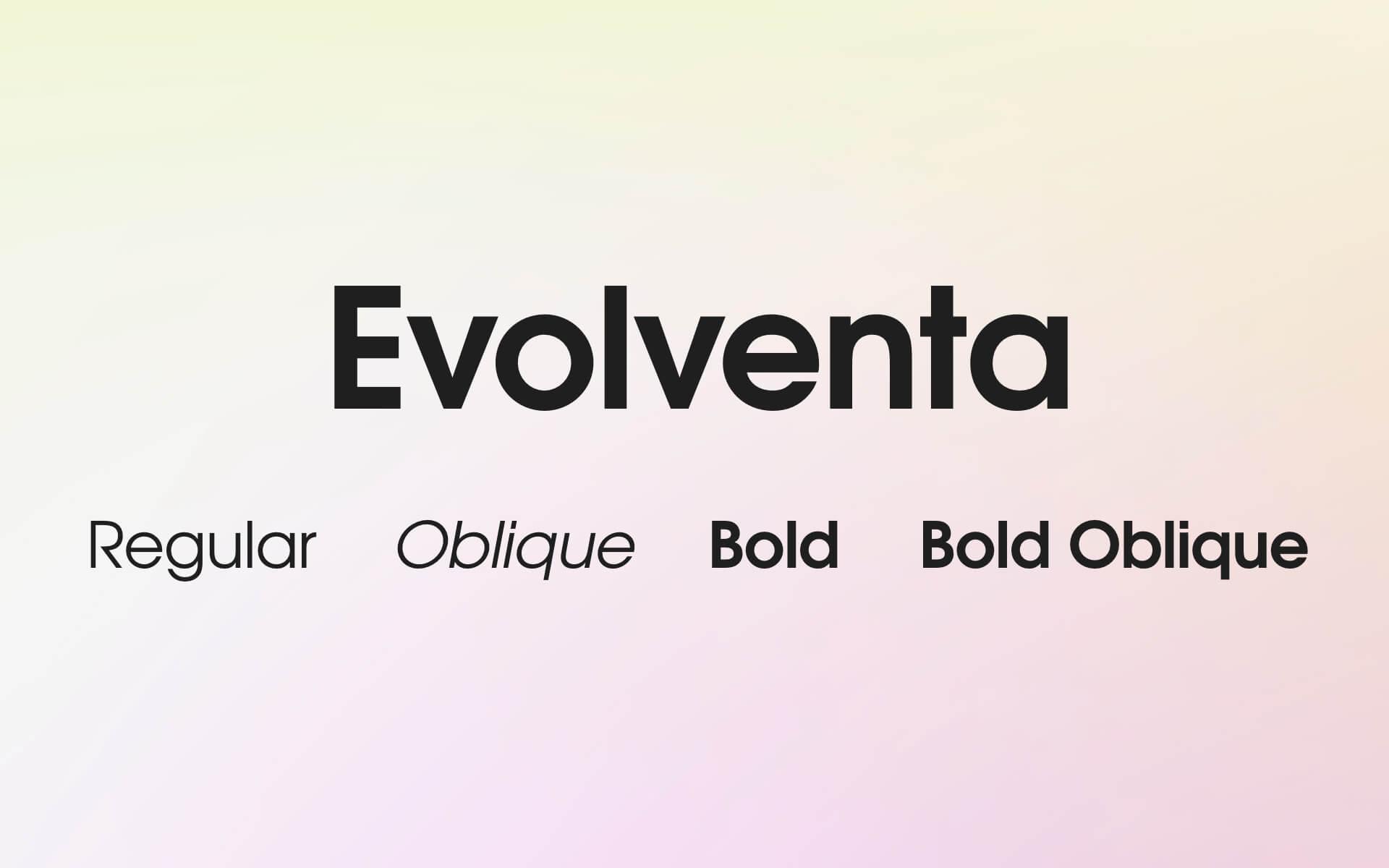 Font Preview Evolventa