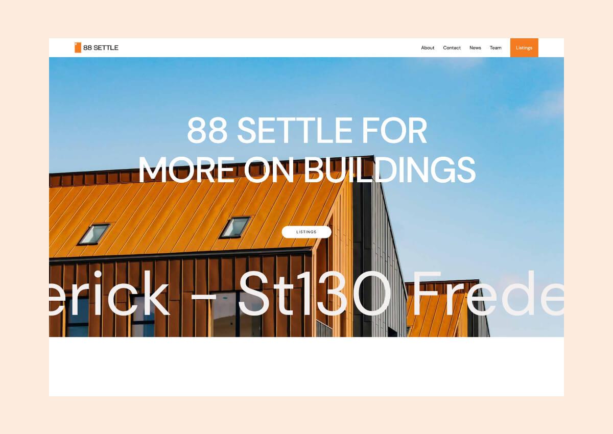 88 Settle Webflow Tempalte
