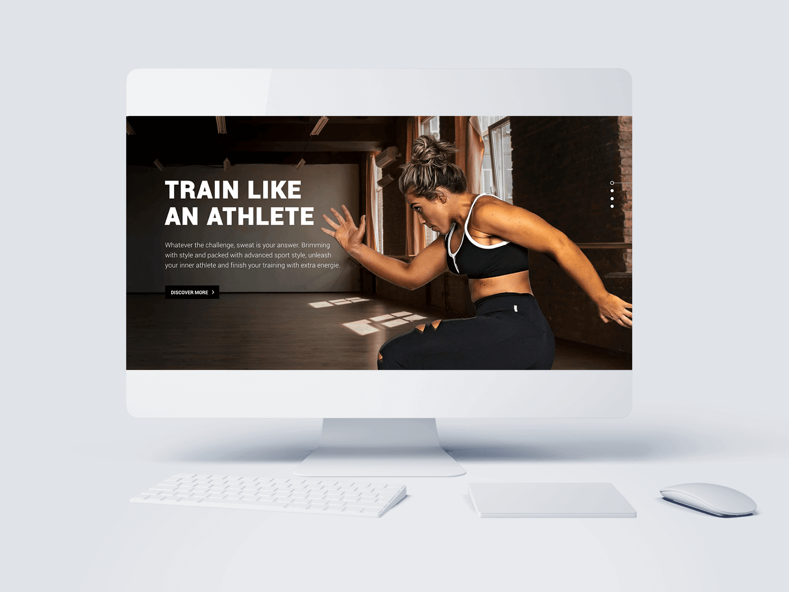 Train Like An Athlete Webdesign Project Preview