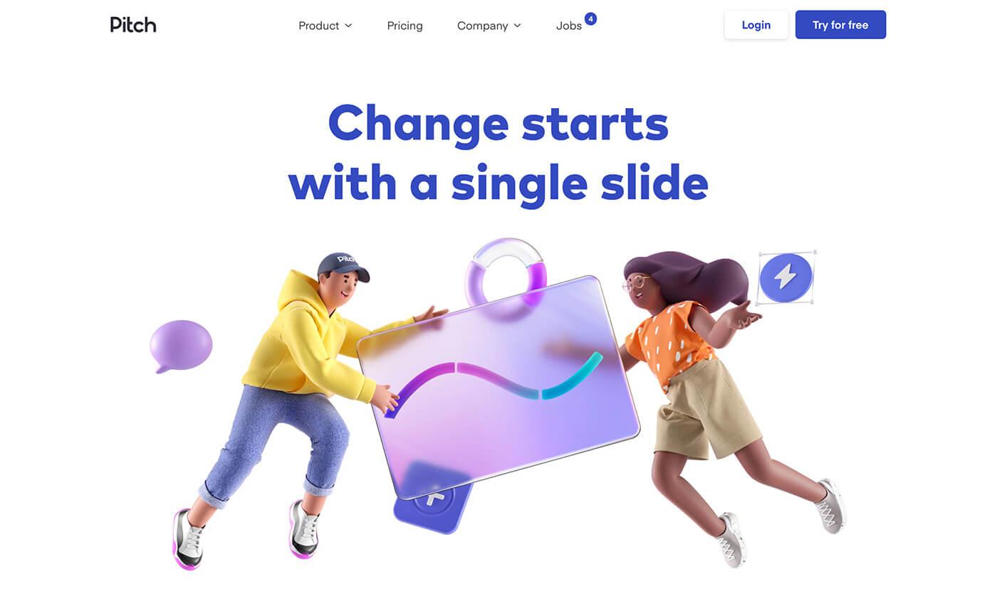 Website Screenshot Pitch