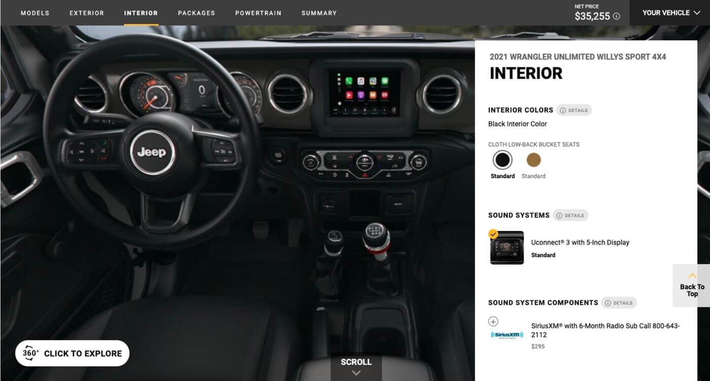 Website Screenshot Jeep