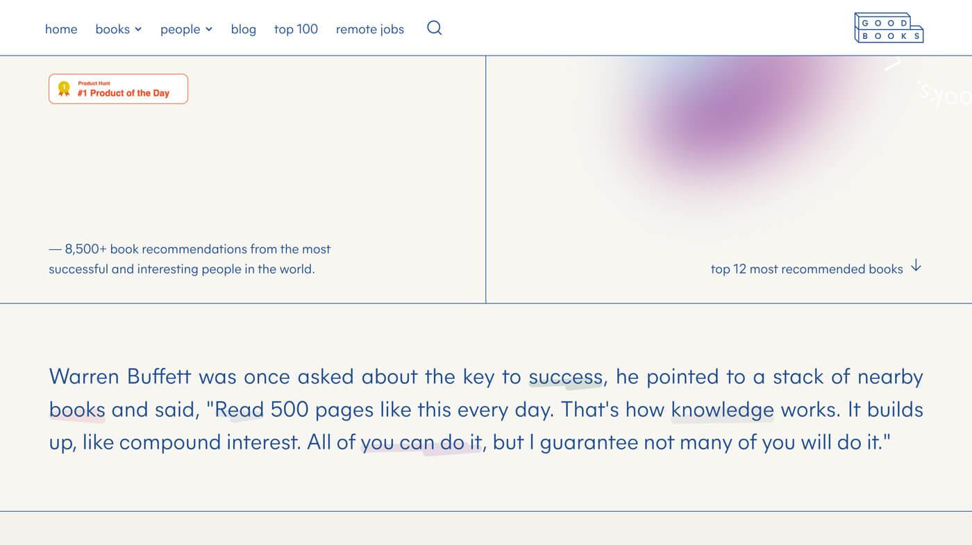 Website Screenshot Good Books