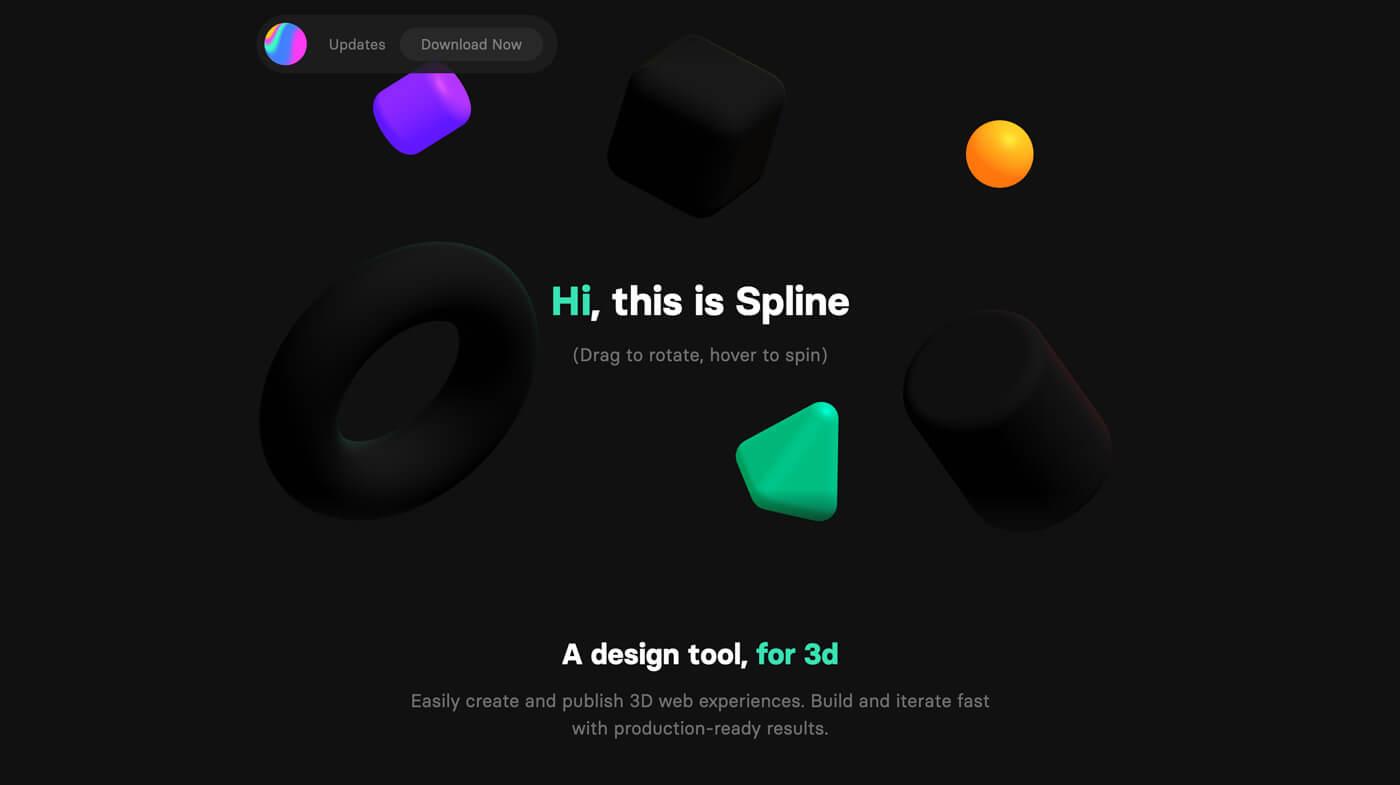 Website Screenshot Spline