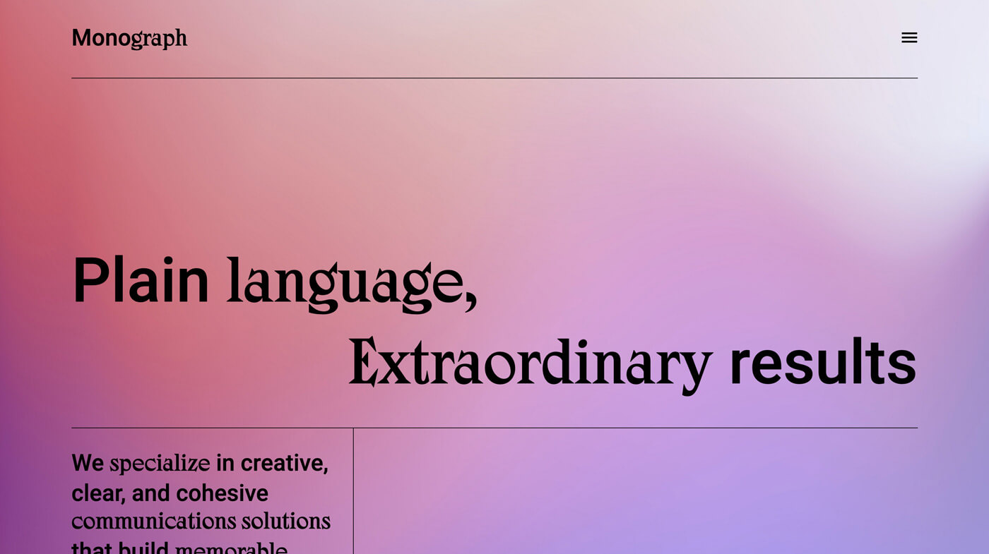 Website Screenshot Monograph
