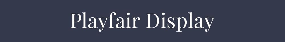 Font Playfair Display