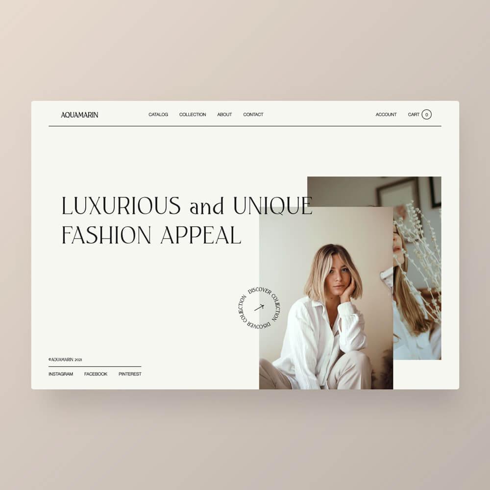 Fashion Appereal Landingpage