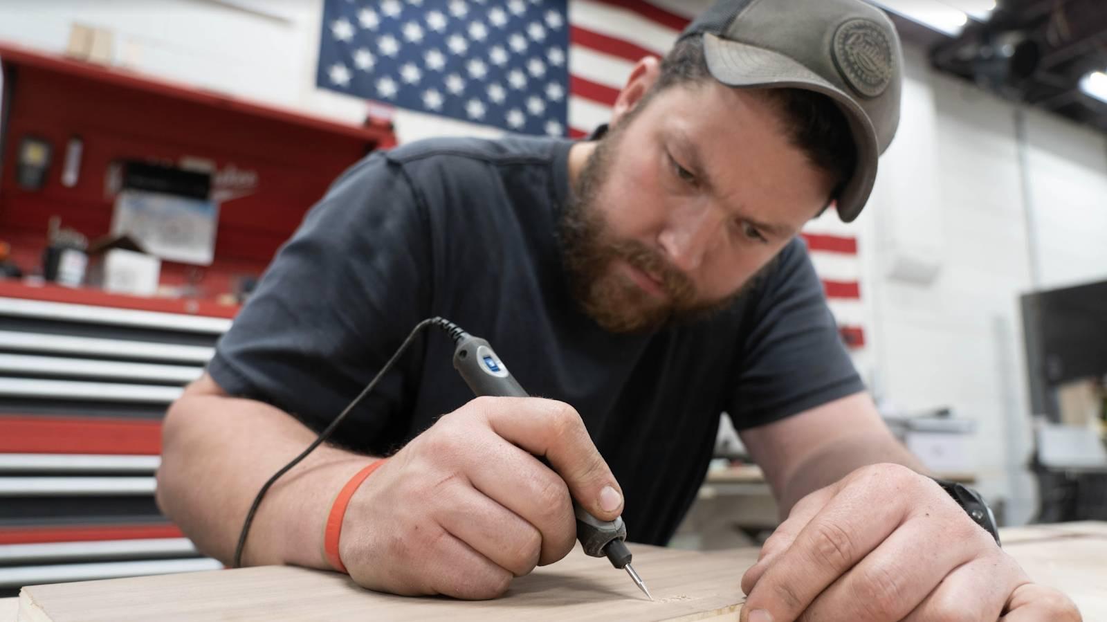 John Malecki uses the DREMEL Stylo+ Versatile Craft Tool on wood