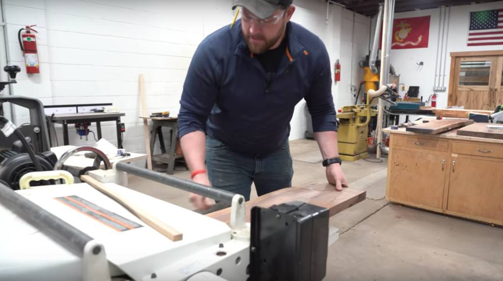 Live Edge Table With A Zipper River