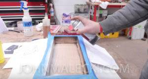 John Malecki uses shoshugibon technique on his wood frame