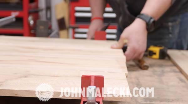 john malecki glues and clamps his door panels