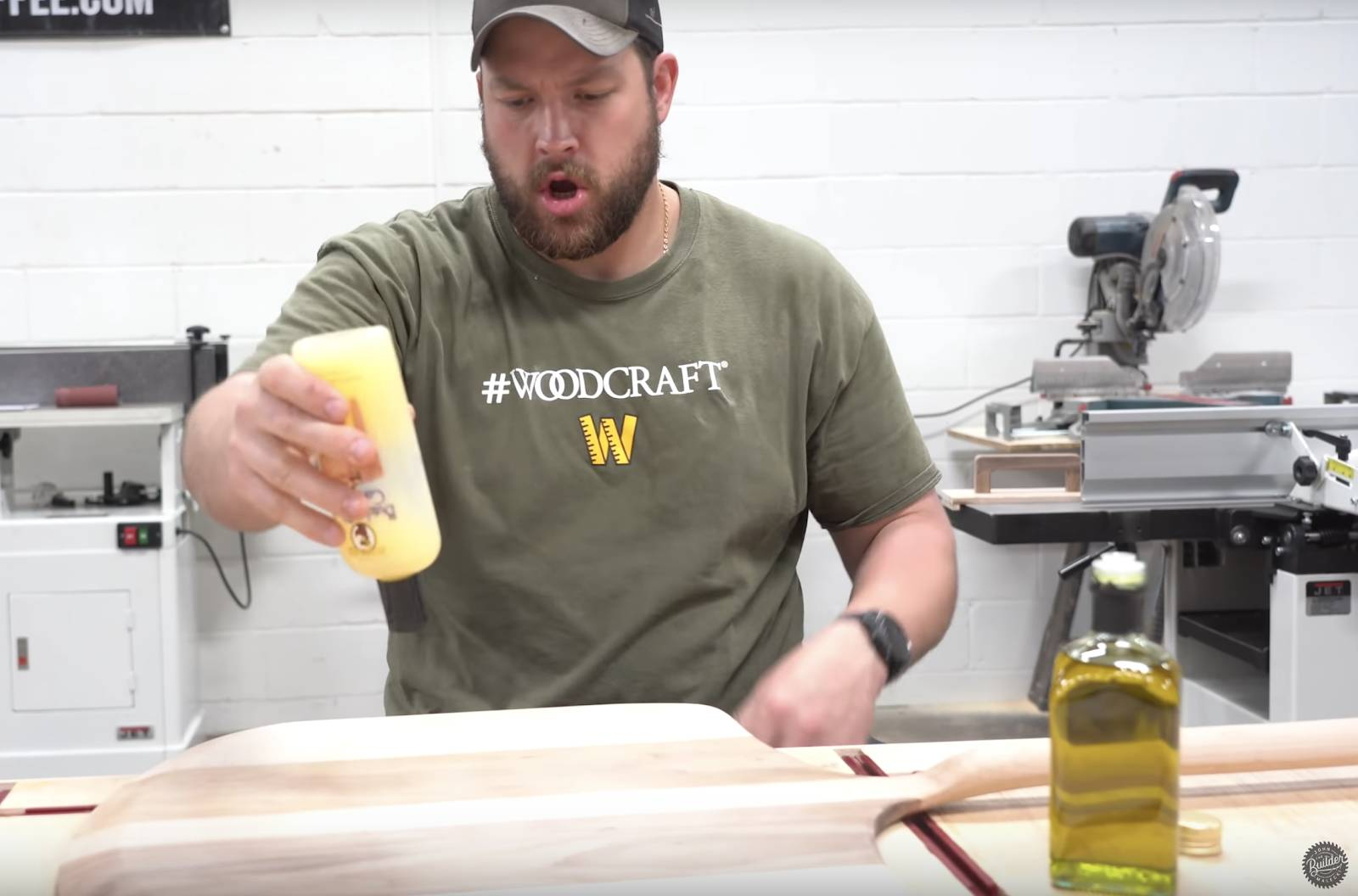 John malecki uses butcher block finish on his pizza peel
