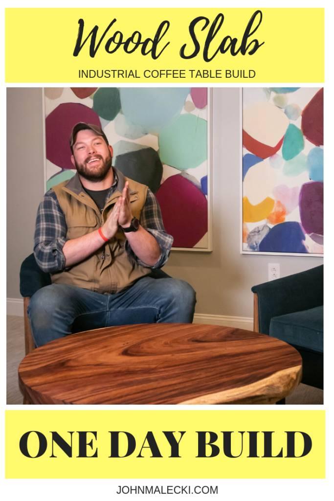 Round Wood Slab Coffee Table