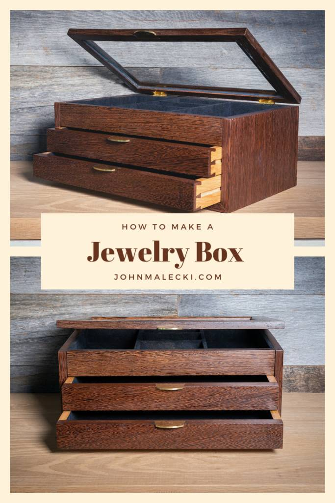a graphic that says 'how to make a jewelry box'