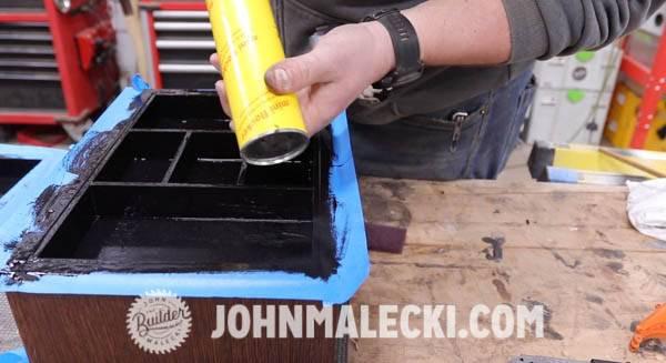 John Malecki makes the inside of the jewelry box fuzzy