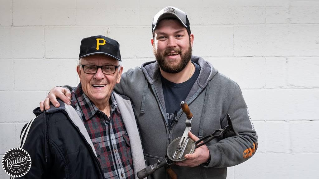 John Malecki with his grandfather