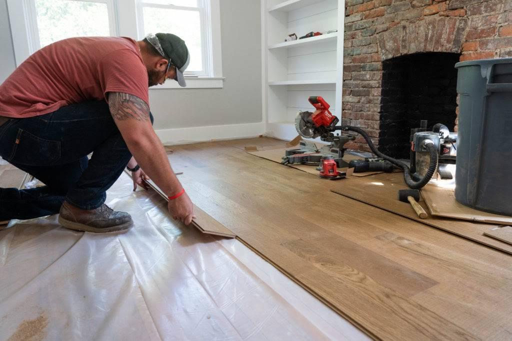 Guest Bedroom Remodel Flooring