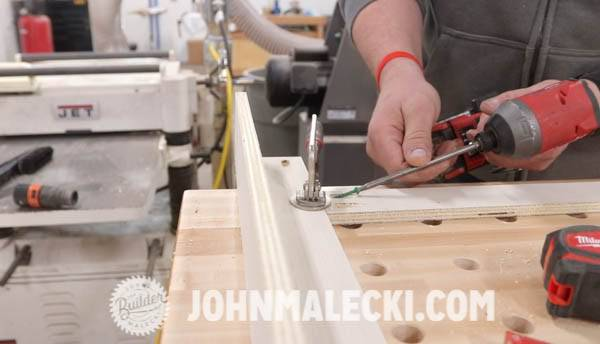John malecki assembles the DIY cart bottom