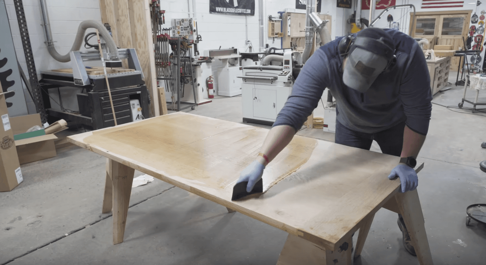 Table staining